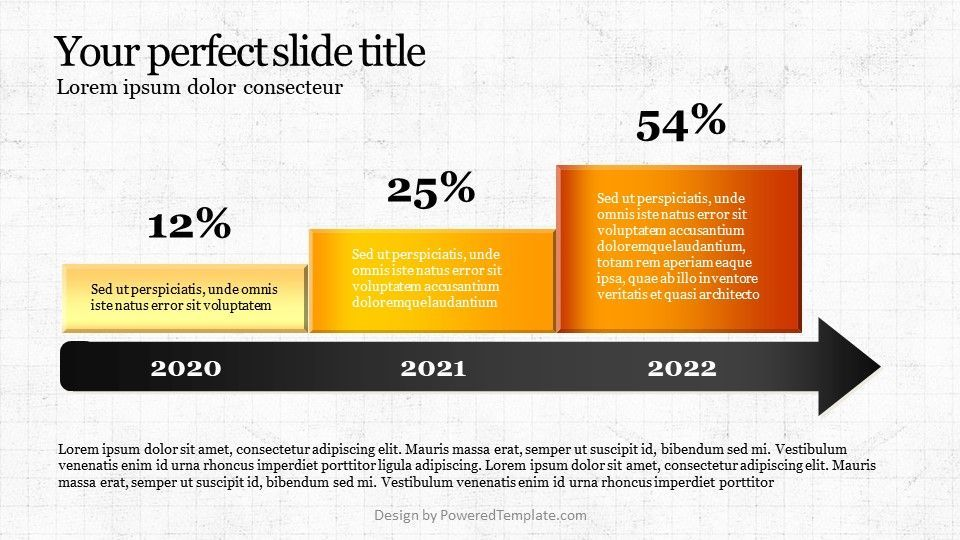 Arrow Report Diagram, Slide 2, 04736, Infographics — PoweredTemplate.com