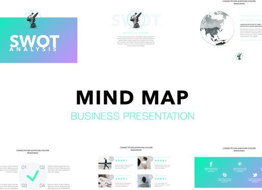 Business Models: Mind Map Keynote Presentation Template #04737
