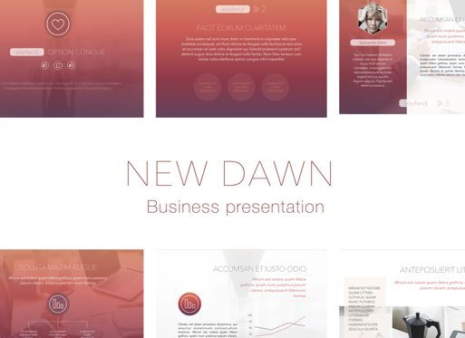 Business Models: New Dawn Keynote Presentation Template #04738