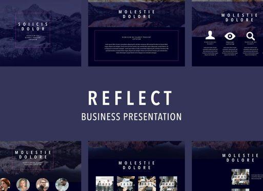 Business Models: Reflect Keynote Presentation Template #04741