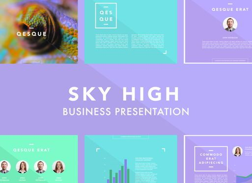 Business Models: Sky High Keynote Presentation Template #04742