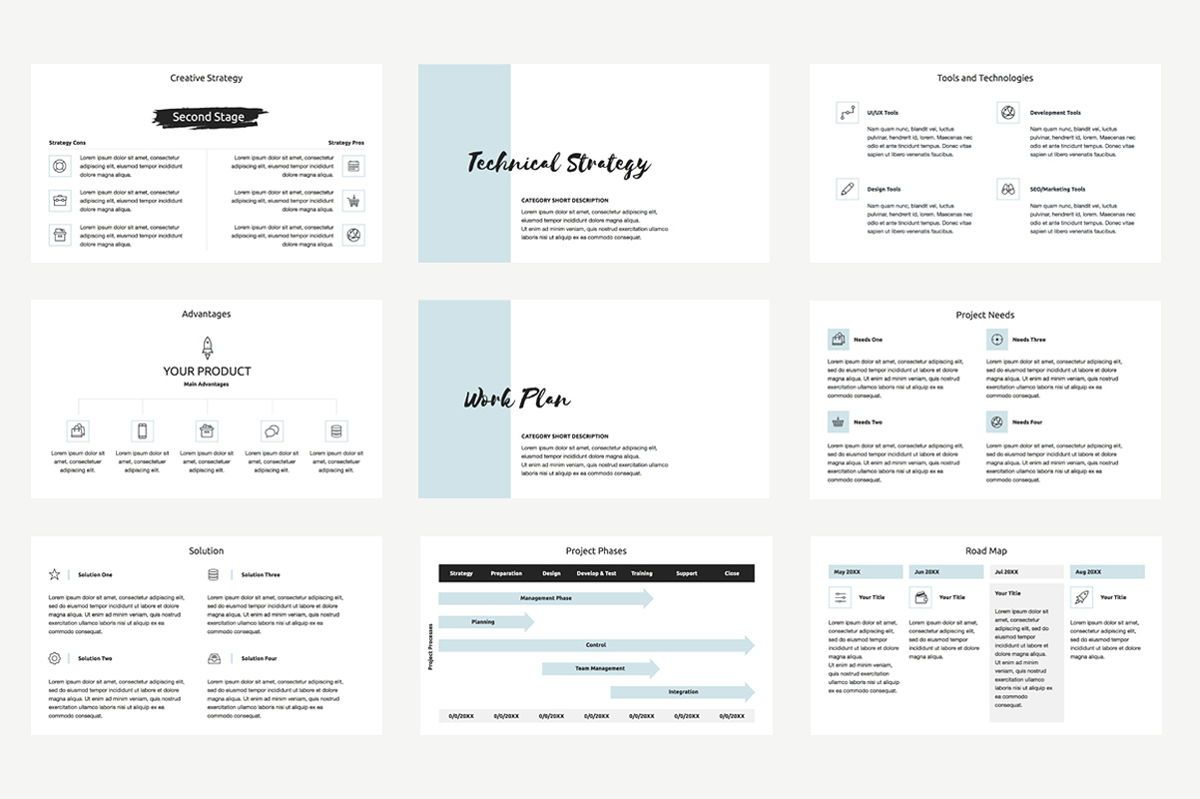 Agency Proposal PowerPoint Template, Slide 4, 04743, Infographics — PoweredTemplate.com