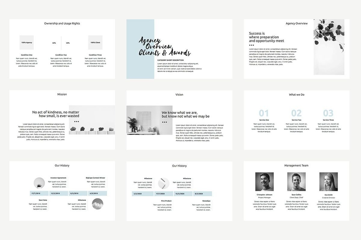 Agency Proposal PowerPoint Template, Slide 6, 04743, Infographics — PoweredTemplate.com