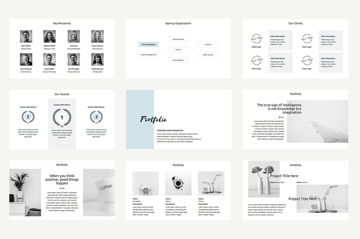 Agency Proposal PowerPoint Template, Slide 7, 04743, Infographics — PoweredTemplate.com