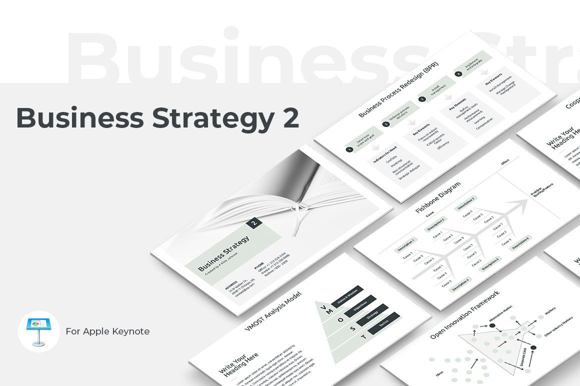 Business Strategy 2 Keynote Presentation Template, 04747, Presentation Templates — PoweredTemplate.com