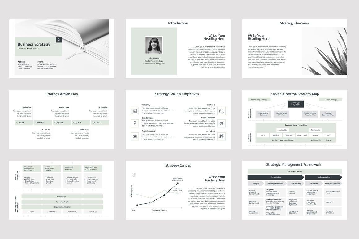 Business Strategy 2 Keynote Presentation Template, Slide 2, 04747, Presentation Templates — PoweredTemplate.com