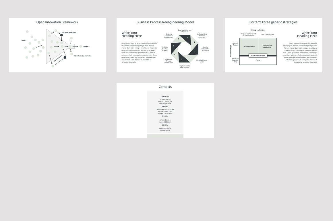 Business Strategy 2 Keynote Presentation Template, Slide 6, 04747, Presentation Templates — PoweredTemplate.com