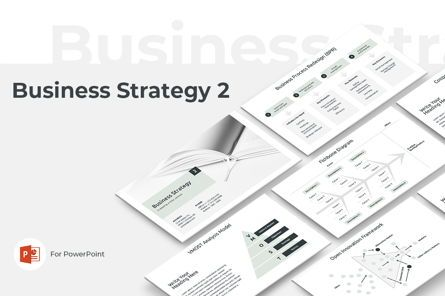 Presentation Templates: Business Strategy 2 PowerPoint Presentation Template #04748