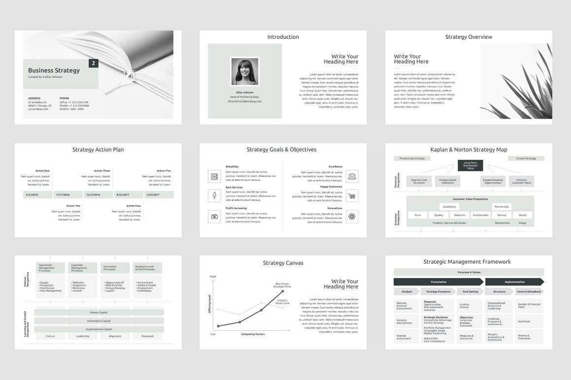 Business Strategy 2 PowerPoint Presentation Template, Slide 2, 04748, Presentation Templates — PoweredTemplate.com