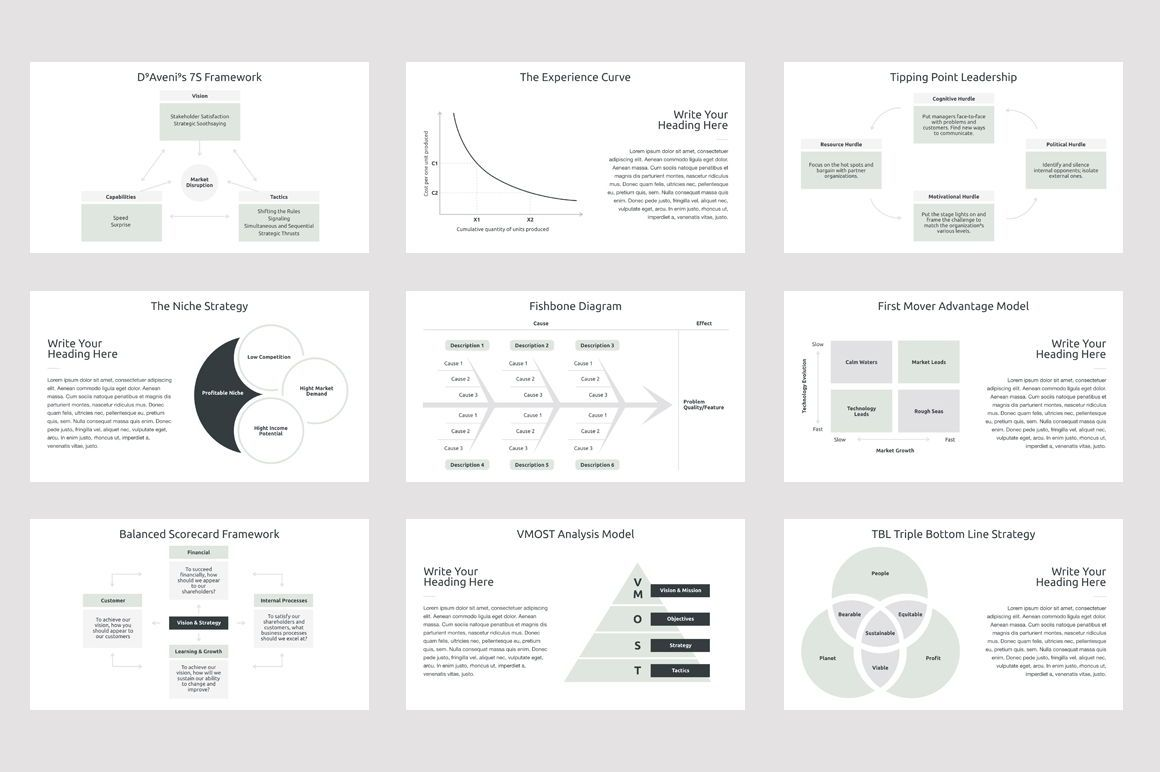 Business Strategy 2 PowerPoint Presentation Template, Slide 4, 04748, Presentation Templates — PoweredTemplate.com