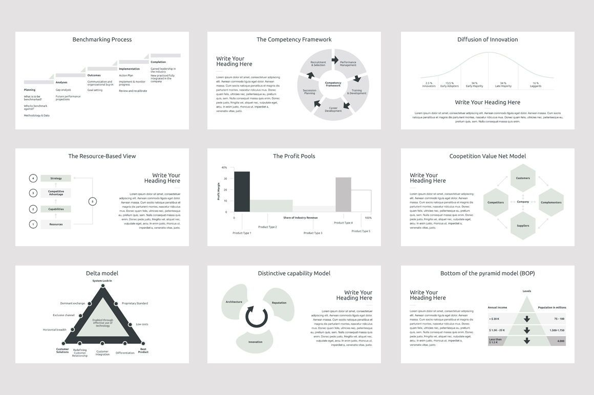 Business Strategy 2 PowerPoint Presentation Template, Slide 5, 04748, Presentation Templates — PoweredTemplate.com