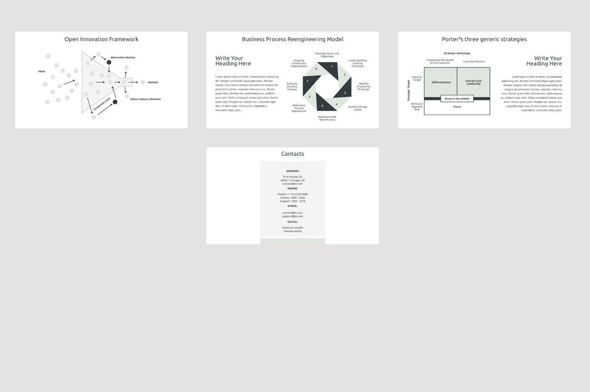 Business Strategy 2 PowerPoint Presentation Template, Slide 6, 04748, Presentation Templates — PoweredTemplate.com