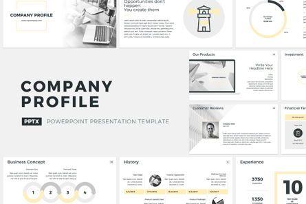 Presentation Templates: Company Profile PowerPoint Presentation Template #04749