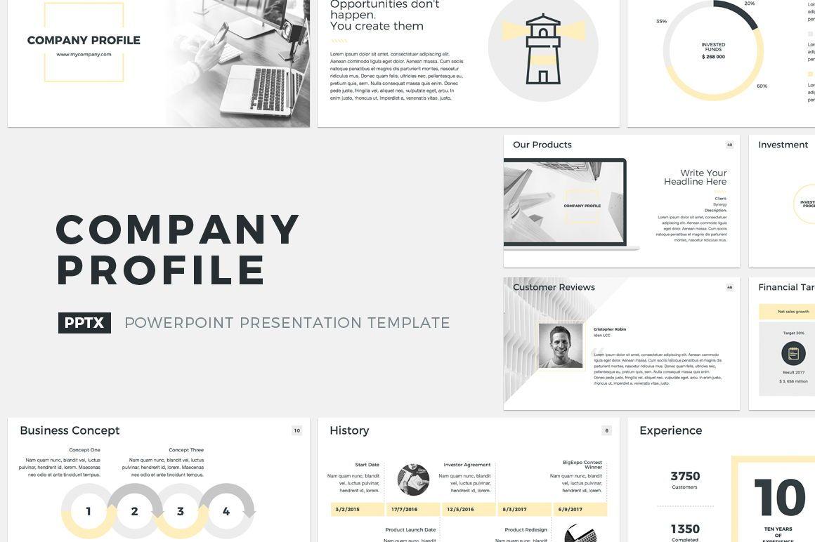 Company Profile PowerPoint Presentation Template, 04749, Presentation Templates — PoweredTemplate.com