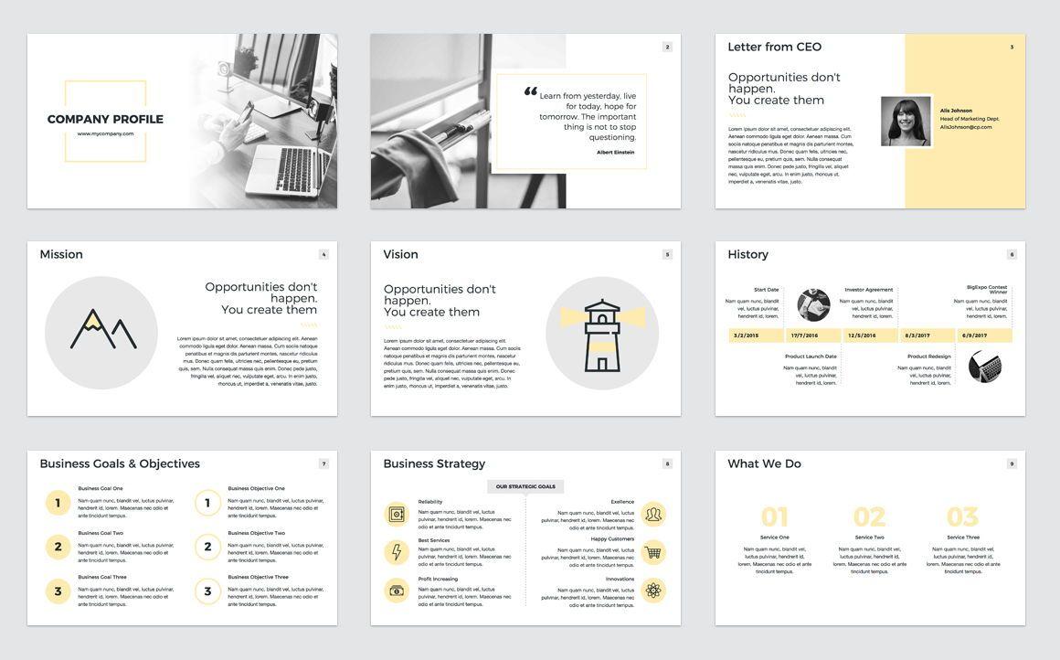 Company Profile PowerPoint Presentation Template, Slide 2, 04749, Presentation Templates — PoweredTemplate.com
