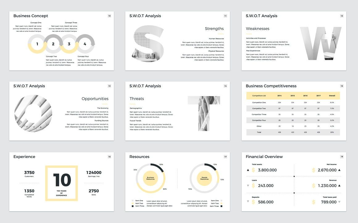 Company Profile PowerPoint Presentation Template, Slide 3, 04749, Presentation Templates — PoweredTemplate.com