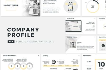 Presentation Templates: Company Profile Keynote Presentation Template #04750