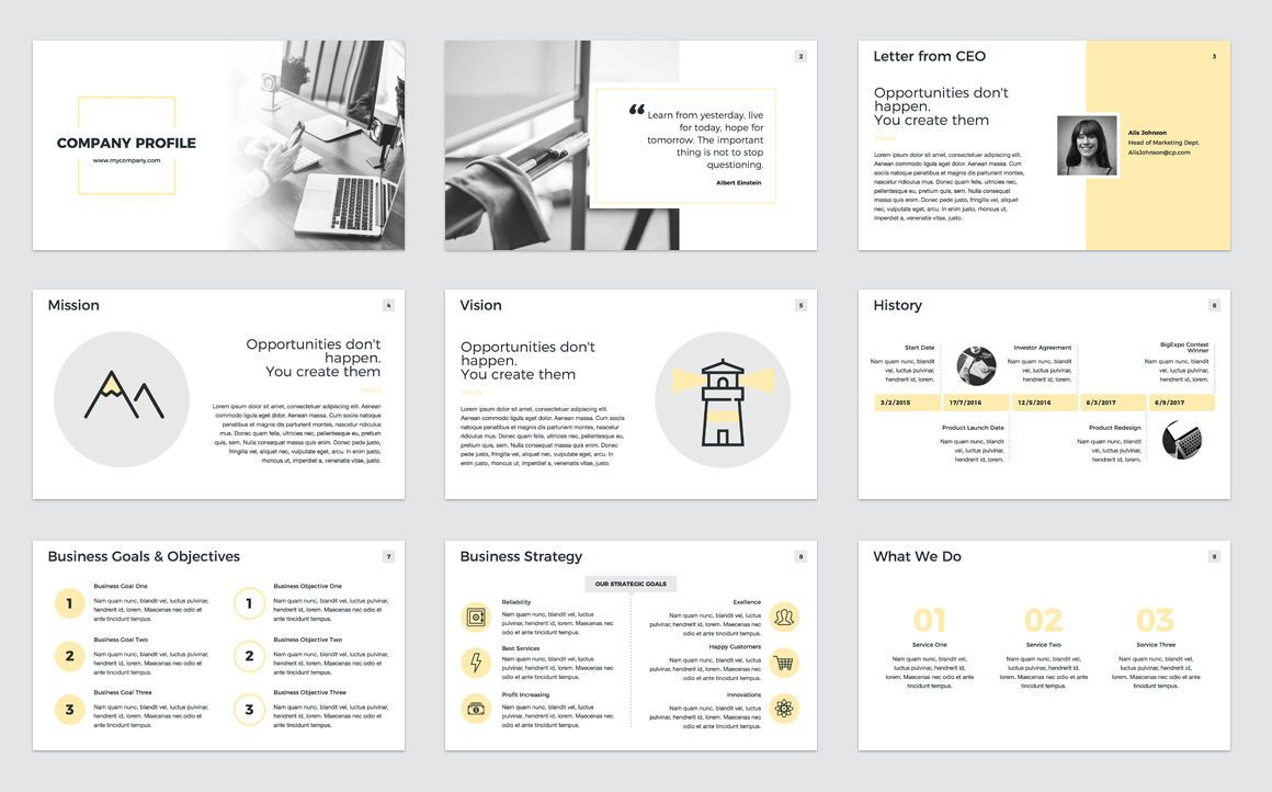 Company Profile Keynote Presentation Template, Slide 2, 04750, Presentation Templates — PoweredTemplate.com