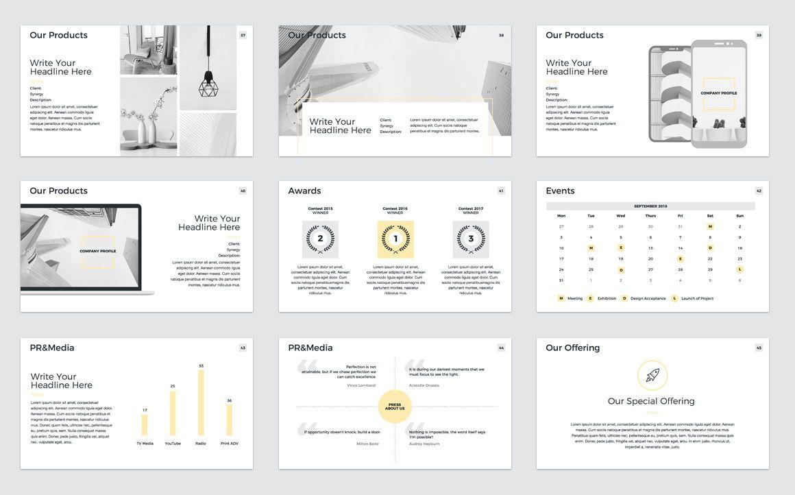 Company Profile Keynote Presentation Template, Slide 6, 04750, Presentation Templates — PoweredTemplate.com