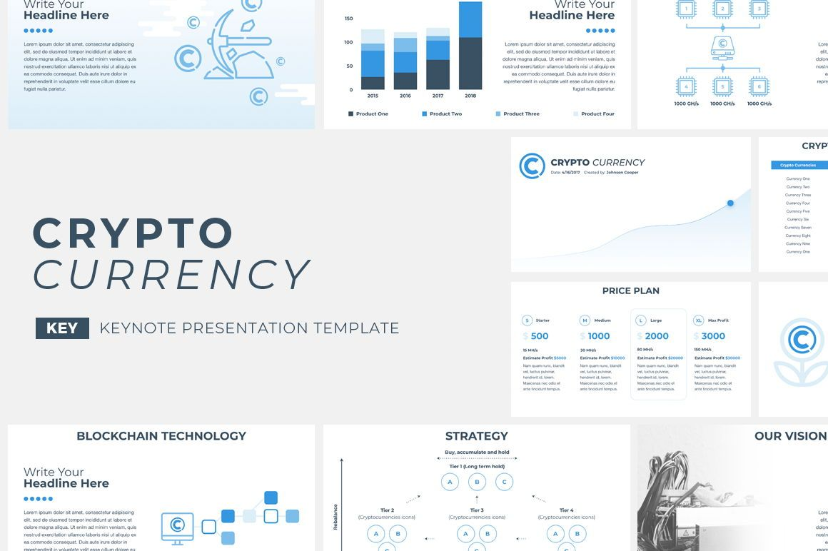 CryptoCurrency Keynote Presentation Template, 04751, Presentation Templates — PoweredTemplate.com