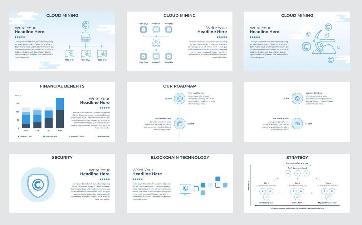 CryptoCurrency Keynote Presentation Template, Slide 3, 04751, Presentation Templates — PoweredTemplate.com