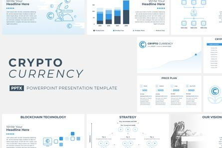 Presentation Templates: CryptoCurrency PowerPoint Presentation Template #04752