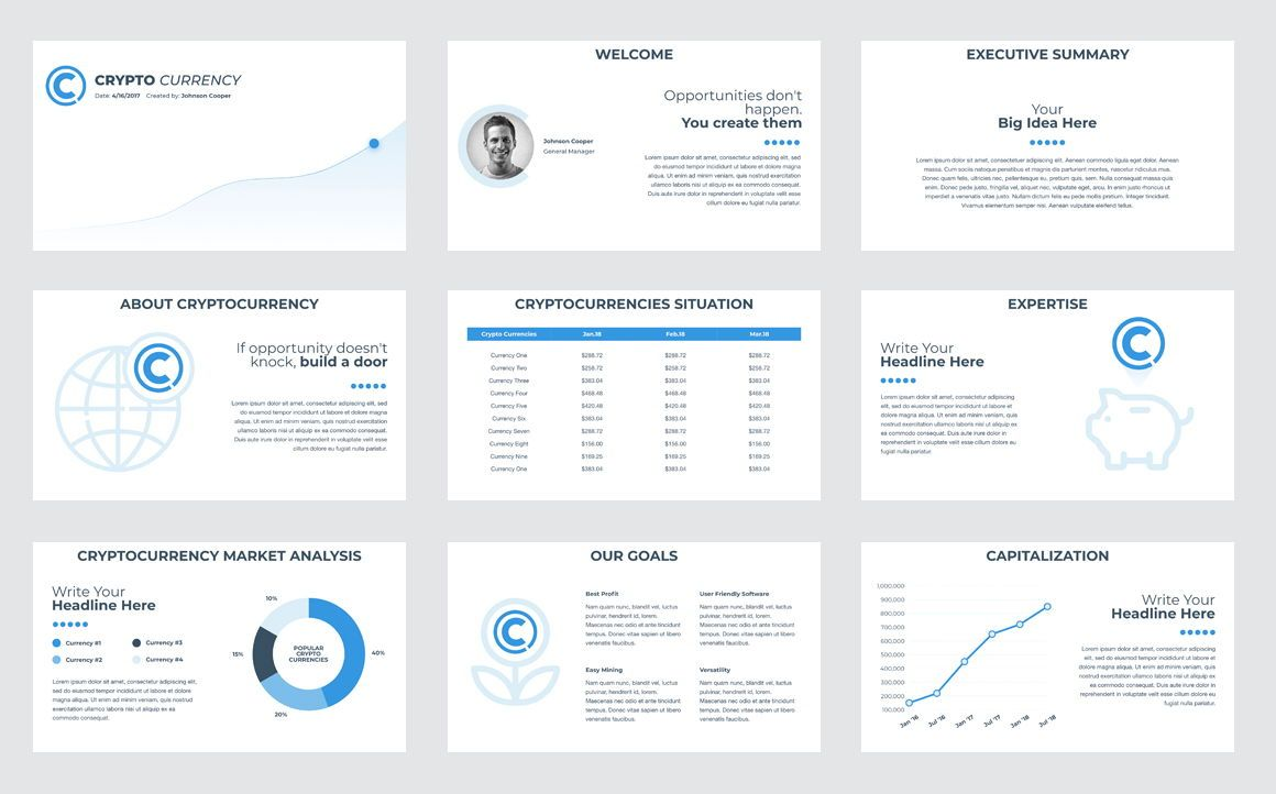 CryptoCurrency PowerPoint Presentation Template, Slide 2, 04752, Presentation Templates — PoweredTemplate.com