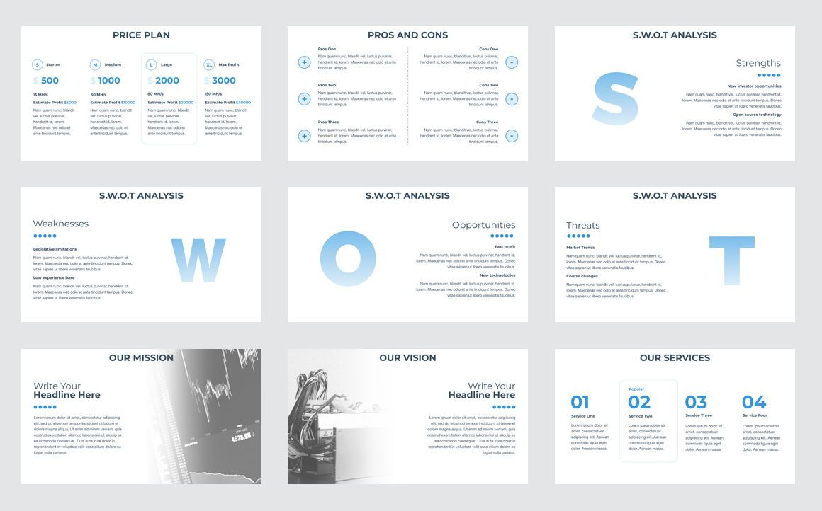 CryptoCurrency PowerPoint Presentation Template, Slide 4, 04752, Presentation Templates — PoweredTemplate.com