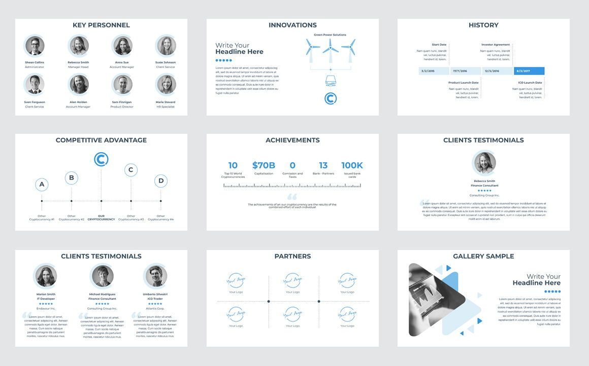 CryptoCurrency PowerPoint Presentation Template, Slide 5, 04752, Presentation Templates — PoweredTemplate.com