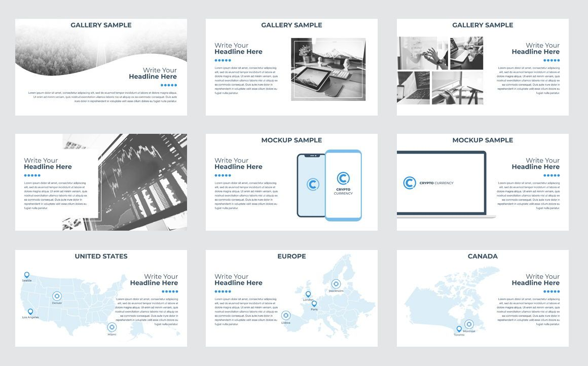 CryptoCurrency PowerPoint Presentation Template, Slide 6, 04752, Presentation Templates — PoweredTemplate.com