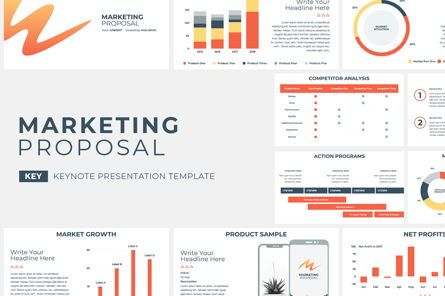 Presentation Templates: Marketing Proposal Keynote Presentation Template #04754