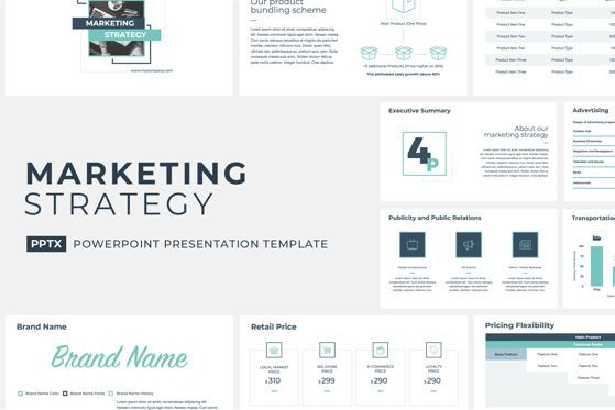 Presentation Templates: Marketing Strategy PowerPoint Presentation Template #04755