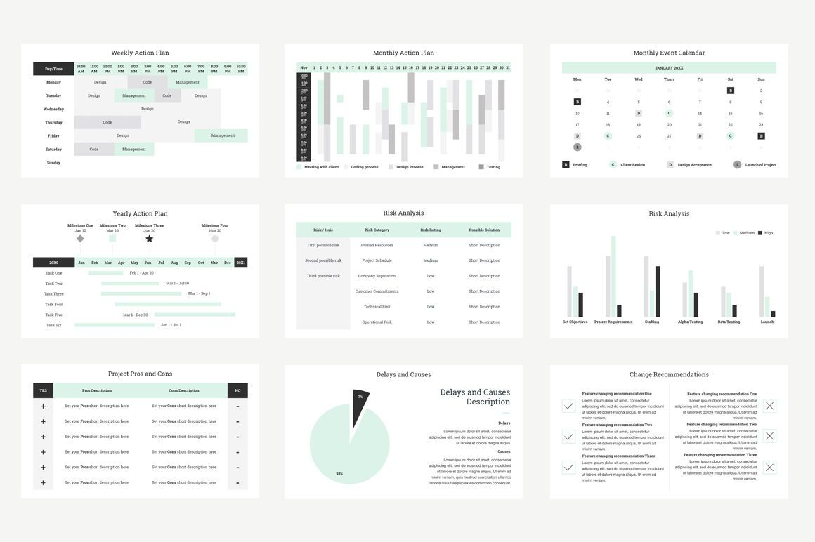 Project Management Report Keynote Presentation Template, Slide 5, 04758, Presentation Templates — PoweredTemplate.com