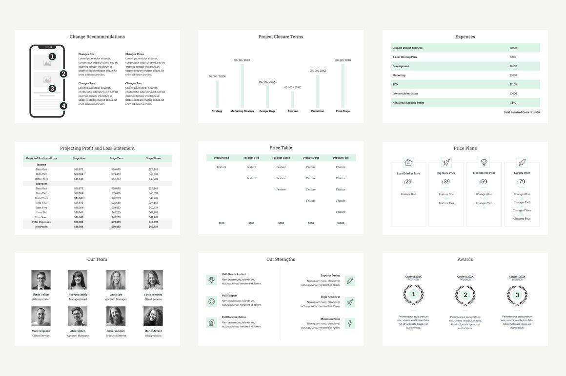 Project Management Report Keynote Presentation Template, Slide 6, 04758, Presentation Templates — PoweredTemplate.com