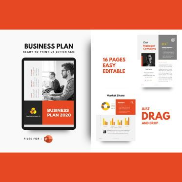 Business Models: Business Plan PowerPoint Template #04762