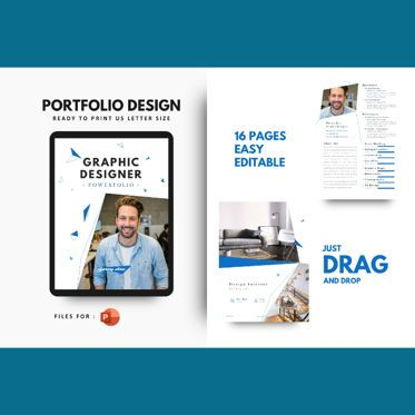 Presentation Templates: Graphic Designer Portfolio eBook PowerPoint Template #04763