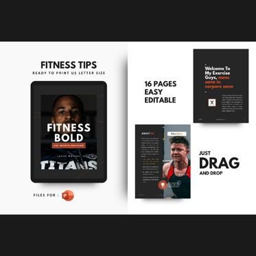 Presentation Templates: Fitness Motivation eBook PowerPoint Template #04764