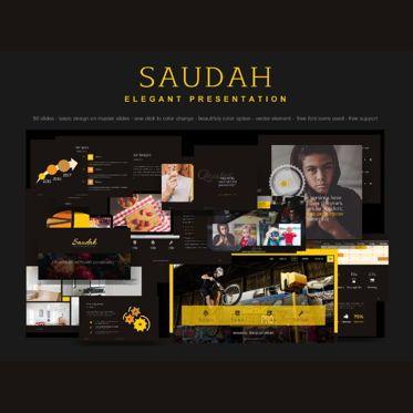 Presentation Templates: Saudah Elegant Presentation PowerPoint Template #04766