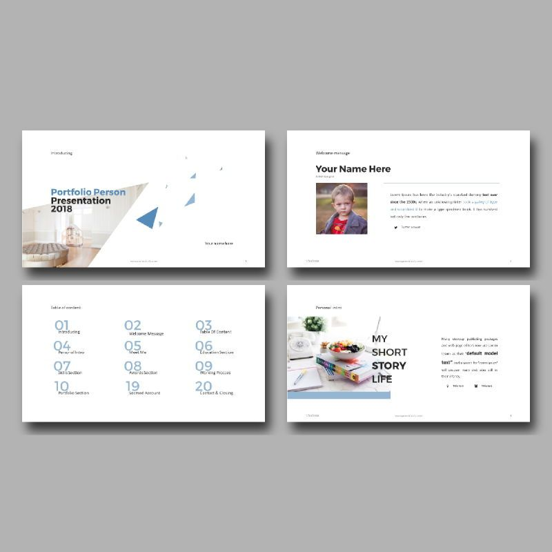 Personal Portfolio Presentation PowerPoint Template, Slide 3, 04768, Presentation Templates — PoweredTemplate.com