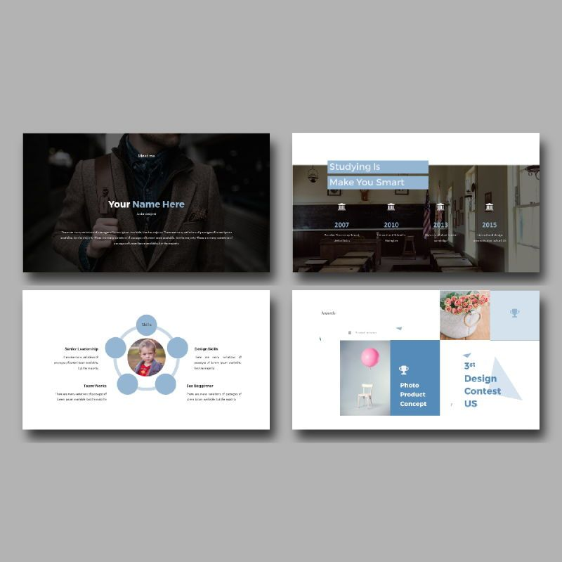 Personal Portfolio Presentation PowerPoint Template, Slide 4, 04768, Presentation Templates — PoweredTemplate.com