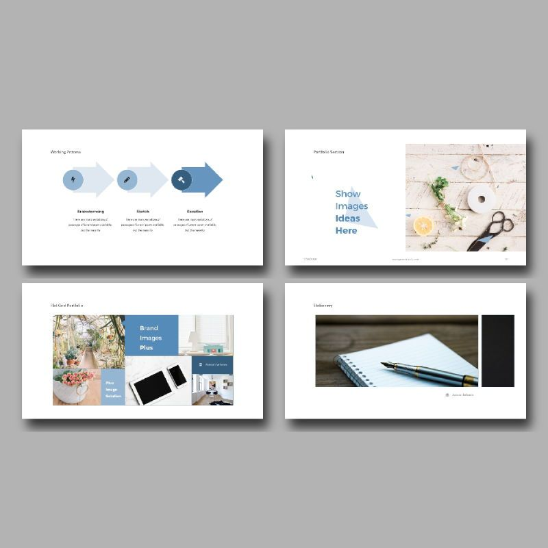 Personal Portfolio Presentation PowerPoint Template, Slide 5, 04768, Presentation Templates — PoweredTemplate.com