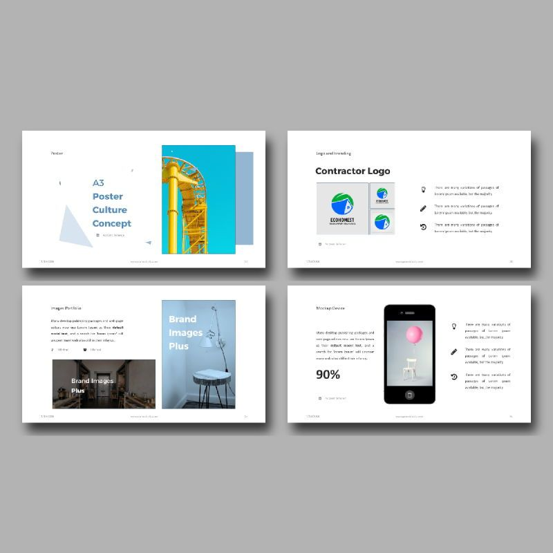 Personal Portfolio Presentation PowerPoint Template, Slide 6, 04768, Presentation Templates — PoweredTemplate.com
