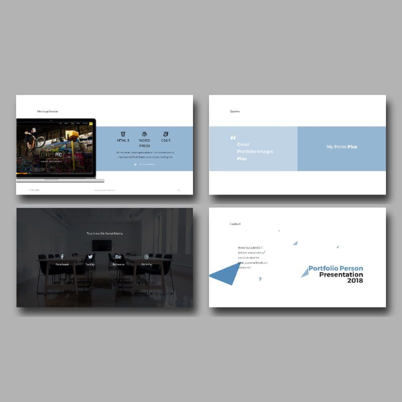Personal Portfolio Presentation PowerPoint Template, Slide 7, 04768, Presentation Templates — PoweredTemplate.com
