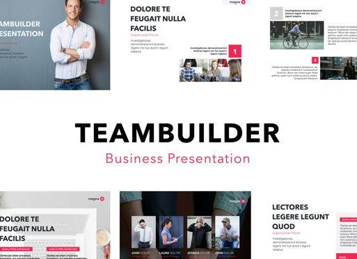 Business Models: Teambuilder Keynote Presentation Template #04780