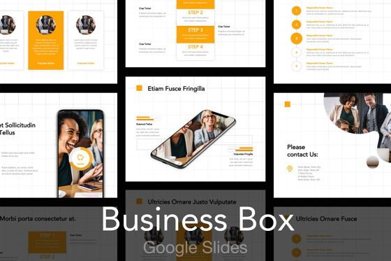 Presentation Templates: Business Box Google Slides Template #04790