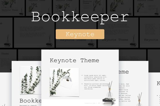 Presentation Templates: Bookkeeper Keynote Template #04791