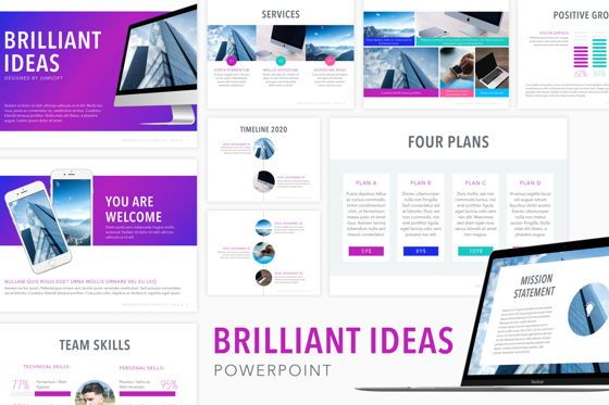 Presentation Templates: Brilliant Ideas PowerPoint Template #04792