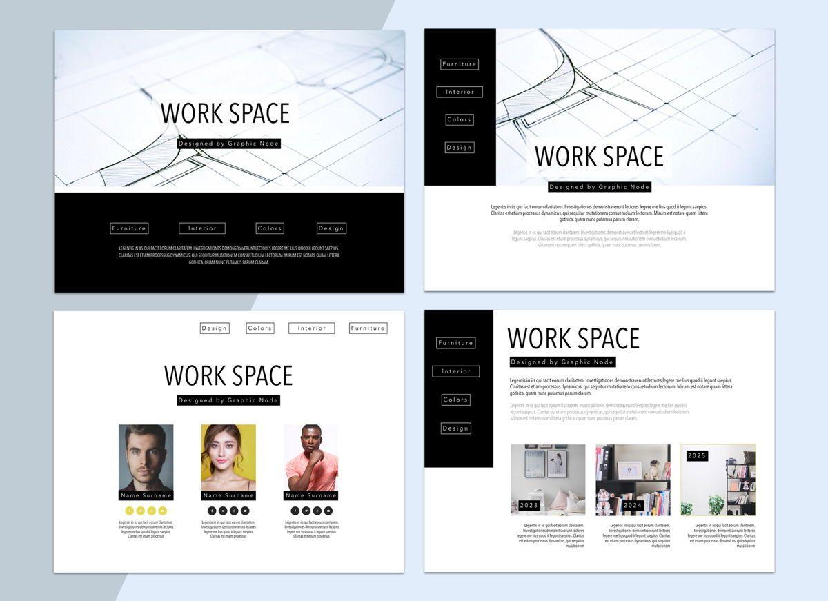 Work Space 02 Keynote Presentation Template, Slide 3, 04798, Business Models — PoweredTemplate.com