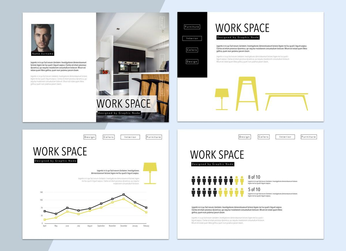 Work Space 02 Keynote Presentation Template, Slide 4, 04798, Business Models — PoweredTemplate.com