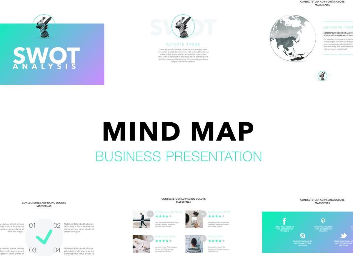 Mind Map Powerpoint Presentation Template, 04799, Business Models — PoweredTemplate.com